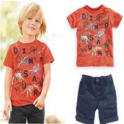格安!!2T-3T-4T-5T-6T-7Tセット★ベビー★幼児★恐竜★ショートパンツ★アンサンブル★Tシャツ+半ズボン