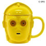 【新生活・ギフト】スターウォーズ ふた付き3Dマグカップ/C-3PO