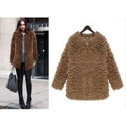 ラシャ/厚手/アウター/コート/お尻の隠れる長めの着丈で、とっても暖かいんです/