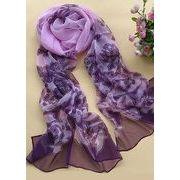 選べる8色/プリントのシルク 100 % スカーフ