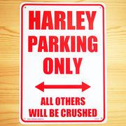 看板/プラスチックサインボード ハーレー専用駐車場 Harley Parking Only ハーレーパーキング CA-34
