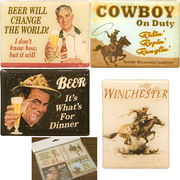 【SALE/値下げ】 ★ オシャレで可愛いマグネット♪マグネット S/4 Beer & Cowboy♪