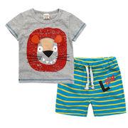 格安!!NEW★子供★幼児★動物★獅子★ライオン★ボーダー柄★ショートパンツ★Tシャツ+半ズボン