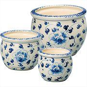 陶器植木鉢3点セット UH02/3KB4