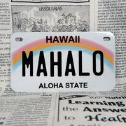 好きな文字にできるアメリカナンバープレート(中・USバイク用サイズ)ハワイ・レインボー