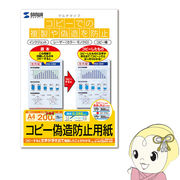 JP-MTCBA4-200 サンワサプライ マルチタイプコピー偽造防止用紙(A4、200枚入り)