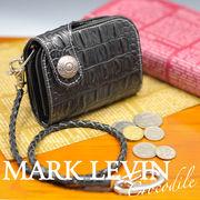 MARK LEVIN クロコ調 デザインショ-トウォレット ML-1253 黒
