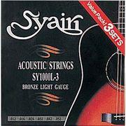S.Yairi アコースティックギター弦 3セットパック ライト SY-1000L-3