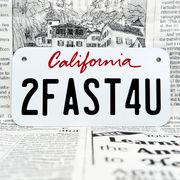 好きな文字にできるアメリカナンバープレート(小・自転車用サイズ)カリフォルニア