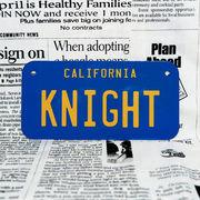好きな文字にできるアメリカナンバープレート(小・自転車用サイズ)カリフォルニア70年代