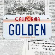 好きな文字にできるアメリカナンバープレート(小・自転車用サイズ)カリフォルニア80年代