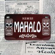 好きな文字にできるアメリカナンバープレート(中・USバイク用サイズ)ハワイ・ティキ木目