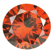 カラーダイヤモンド ブリリアントカット ルース オレンジコニャック/約1.0-3.3mm