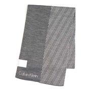Calvin Klein �J���o���N���C�� BLOCKED GRID LOGO MUFFLER �}�t���[ ���C�g�O���[ 77318