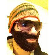 ローマ風 ニット帽 ヒップホープ 髭付き 男女兼用 ニットキャップ 帽子 男の子 4色あり