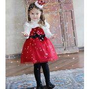 クリスマス衣装 女の子 ワンピース スカート ドレス 可愛い お姫様 冬 厚手