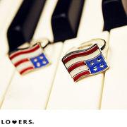秋冬新作 星条旗リング ma【即納】アクセサリー 小物 星条旗 リング アメリカ国旗 指輪 アメリカ