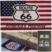 ★ココナツ玄関マット★コイヤーマット★【COIR MAT】 US ルート66★Americas Highway US Route66★