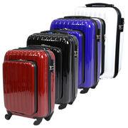 オープンポケット付きスーツケース 36L DC-9917 赤/黒/青/白