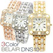 【Bel Air Collection】煌びやかなラインストーンベゼル レディース腕時計 DNS10
