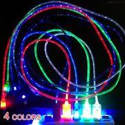 全4色★android対応LED発光USBケーブル :全4色_H01B0637