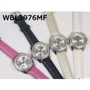 【国内メーカーお買い得品】レディース腕時計 PUレザーベルト 日本製ムーブメント