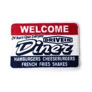 【★自信作!アメリカのダイナーをイメージして作りました♪】FLOOR MAT (DINER)