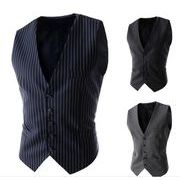 スーツベスト   メンズ ビジネス  通勤ストライプ   オールシリーズ紳士   チョッキ   礼服イベント