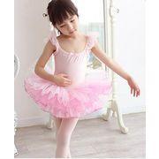 キッズ 子供 女の子 ミニ ダンスウェア チュールスカート ダンス 2色 100-150cm