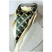 エレガント袋縫いメンズ用100%シルクスカーフ 1006