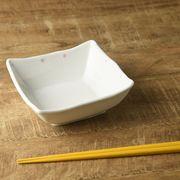 【特価品】ピンクドットの14.5cm角中鉢[B品][美濃焼]
