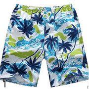 ★★人気メンズズボン★カジュアルパンツ&五分丈・ハワイの花柄★ビーチズボン