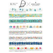 space craft �}�X�L���O�e�[�v ��{�� 15mm*10m masking tape Vol.6