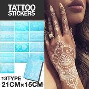 【タイプI】 Tattoo sticker ホワイト タトゥーシール ステッカー
