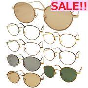 【TY803】ボストンタイプ★メタル伊達メガネ&サングラス【8色♪】 丸メガネ/眼鏡/まんまる/まるめがね