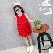 夏新型★韓国風★キッズファッションワンピース★ワンピース