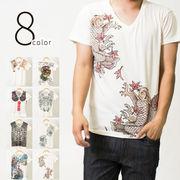 8color 和風/和柄 プリントTシャツ
