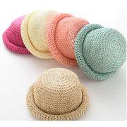 夏新型★韓国風★キッズ麦わら帽子★日除け帽★5色選べる