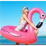 新品★大人用 フラミンゴ 遊べる 浮き輪★
