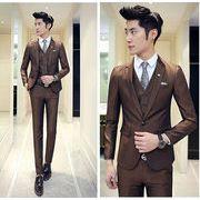 紳士服 スーツ・セットアップ 1ボタン カジュアル メンズ ビジネス   リクルートスーツ 卒業式結婚式