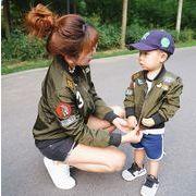 親子お揃い 親子ペア  ジャケット キッズ ウインドブレーカー  トレンチコート パパ ママ 女の子 男の子