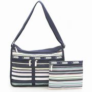 LeSportsac 7507 D828 Beach Stripe �f���b�N�X�G�u���f�C�o�b�O Deluxe Everyday Bag  ���f�B�[�X �g�[�c