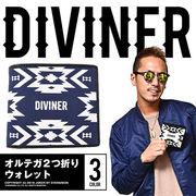 コンパクトなサイズ感★【DIVINER】オルテガ2つ折りウォレット/メンズ 小物 アクセサリー 財布