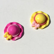 【デコパーツ】リボン付き帽子パーツ(約2.8cm)