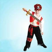 激安☆子供★コスチューム★ハロウィン★海賊扮装★頭巾+シャツ+ズボン+ベルト
