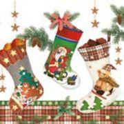 Maki  ペーパーナプキン クリスマス 靴下