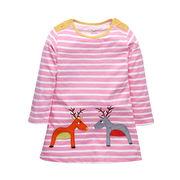 キッズトップス 綿100% 韓国子供服 かわいい おしゃれ 長袖 鹿  80cm~130cm5点
