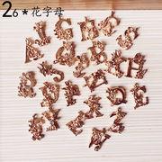 手芸DIY KC金 iPhoneケース用アクセサリスーツ 字母 立体 ペンダント 髪のアクセサリー