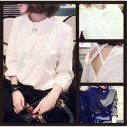 【ノベルティ】【OEM】【自社ブランド対応】【送料無料】バック クロスリボン☆シャツ