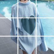 【sale50064】大きいサイズ☆ハートデザインシャツ LL~4L